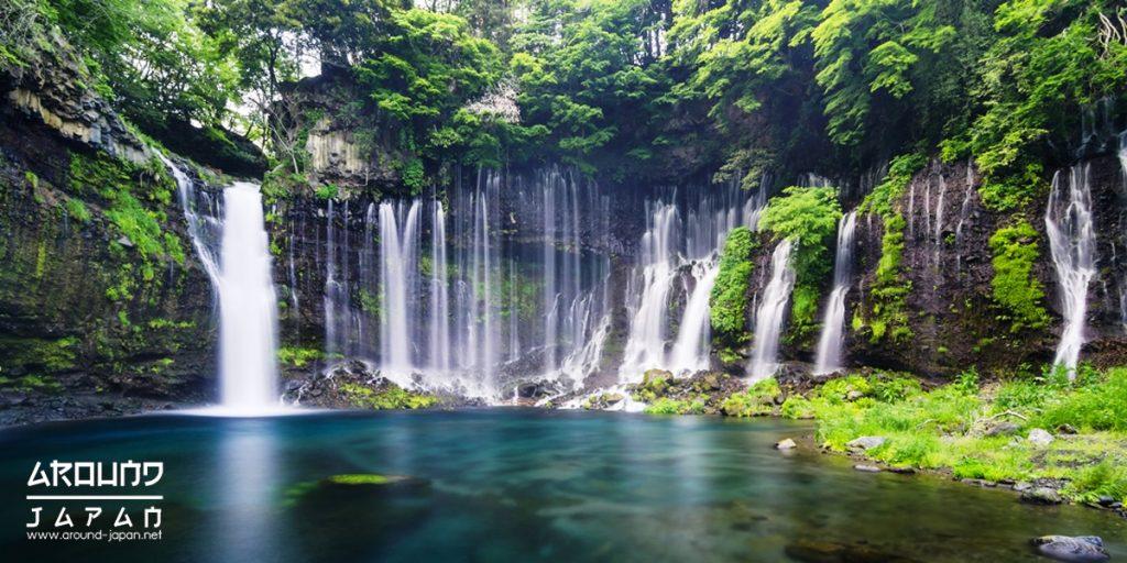 ความมหัศจรรย์ของม่านน้ำตกที่ Shiraito Falls