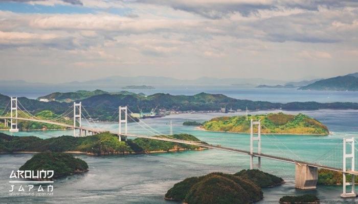ชมทะเลชิมานามิไคโดและทะเลเซโตะใน ปั่นจักรยานที่ญี่ปุ่นเป็นสถานที่ที่นักปั่นจักรยานที่ญี่ปุ่น มาปั่นจักรยานเพื่อข้ามจังหวัดยาวถึง70กิโลเมตร